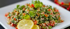 Tabouleh Salad - with parsley, bulgur, blughur, mint Veggie Side Dishes, Side Dish Recipes, Healthy Eating Recipes, Healthy Salads, Fig Recipes, Easy Recipes, Vegan Recipes, Eastern Cuisine, World Recipes