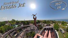 Movieland Park 2019 BrontoJet 360° VR Onride Roller Coaster, Vr, Movies, Films, Roller Coasters, Movie, Film, Movie Theater