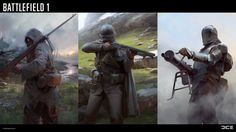 Despite being set in one of the darkest periods of human history, Battlefield 1 is a beautiful video game, matching the grim browns of trench warfare with some of the most striking weather and landscapes we've ever seen. Battlefield 1, Diesel Punk, Fantasy Warrior, Fantasy Art, Character Concept, Character Design, Steampunk Airship, Concept Art World, Horror