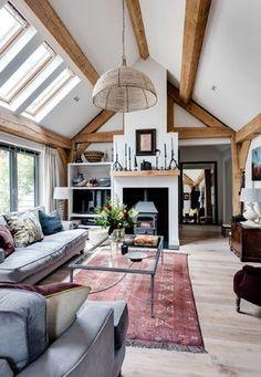 Single Storey - Border Oak - oak framed houses, oak framed garages and structures. Home, House Styles, Homedecor Living Room, Cottage Interiors, Oak Frame House, Barn Interior, House, Building A House, Border Oak