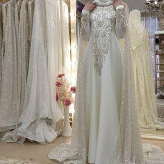Muslim Wedding Dresses, Wedding Hijab, Dream Wedding Dresses, Wedding Gowns, Morning Dress, Hijab Fashion Inspiration, Hijab Bride, Moroccan Dress, Stylish Coat