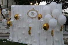 Balloons and Backdrop