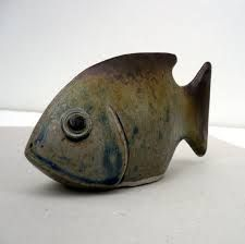 Image result for fish clay wood fired sculpture
