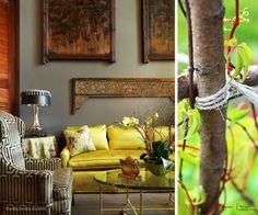 Autumn Decor Fall finds Cushions Warm Colours Fresh Trees Inspiration Home Decor Karen Fron Interior Design | Calgary