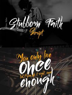 Stubborn Faith Script. Script Fonts. $10.00