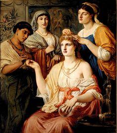 Simeon Solomon, The Toilette of a Roman Lady, 1869