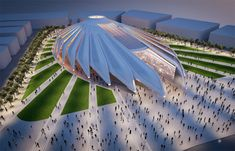 referencing a falcon in flight –  the design will capture the UAE\'s past and future spirit to the 25 million visitors and participants from over 180 nations expected to the site.