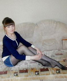 Legs, feet and pantyhose - beautiful girls wearing nylon tights