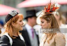 Sarah Ferguson Duchess of York and Princess Beatrice attend Royal Ascot 2017 at Ascot Racecourse on June 23 2017 in Ascot England
