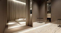 Bedroom by Oporski Architektura, via Behance