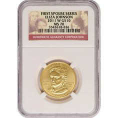 2011-W First Spouse Eliza Johnson Half Ounce Gold Coin MS70 NGC