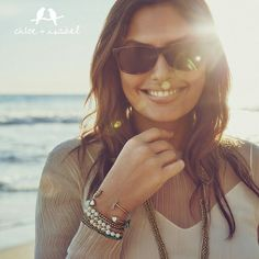 Say it with mosaic in this modern collection of semi-precious sparklers. http://www.chloeandisabel.com/boutique/miralucy