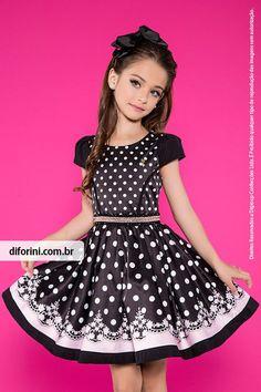 Vestido Infantil Diforini Moda Infanto Juvenil 010805