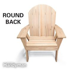 How to Make an Adirondack Chair and Love Seat | The Family Handyman