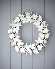 Cardboard Leaf Wreath | Catalog Products | SHOP | The Original Pop Up Shop