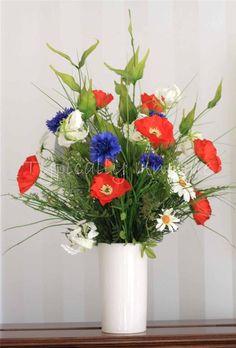 Poppies daisies and cornflowers