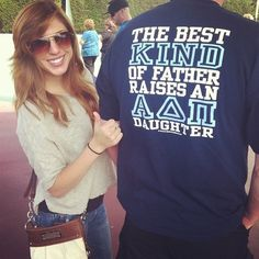 """The best kind of father raises an ADPi daughter."" Cute t-shirt for Daddy/Daughter Day!"