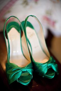 have your shoes dyed an amazing emerald! Magnolia Wedding by Sharon Nicole Photography | Style Me Pretty