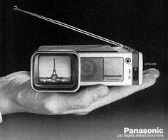 Panasonic TravelVision portable TV radio , 1968