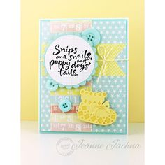 Serendipity Stamps Snips and Snails stamp and Baby Bootie Dies