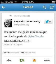 Tweet Jodorowsky, cultura libre, meme