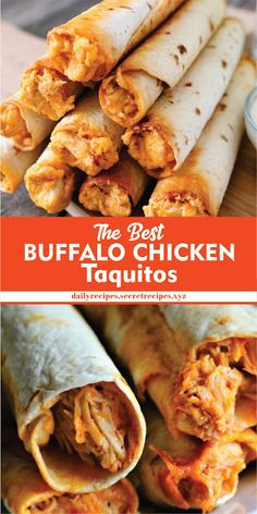 The Best Buffalo Chicken Taquitos   Daily Recipes #chicken #chickenrecipe #chickendainner #easyrecipe #easyfoodrecipes #simplerecipes #healthyfood #healthyrecipe #goodfood