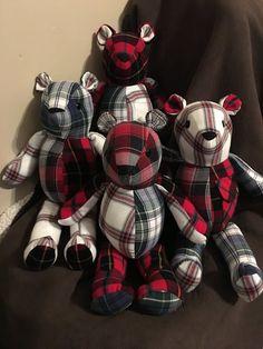 Memory Teddy Bear Keepsakes by bcmead on Etsy