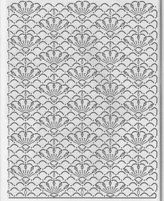 Ivelise Feito à Mão: Pontos fantasia De Crochê, #crochet, free chart, #haken, gratis haakschema, sjaal, das, etc., haakpatroon