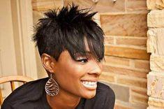 Spiked Black Women Hair Short Sassy Hair, Short Hair Cuts For Women, Short Cuts, Cute Hairstyles For Short Hair, Short Hair Styles, Short Haircuts, Funky Haircuts, Hairstyles 2018, Coiffure Hair