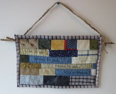 Primitive Patchwork Wall Hanging by SewManyYears on Etsy, $10.00
