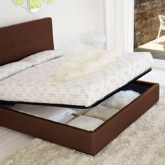 Swami storage platform bed...wouldn't that be a great spot for emergency food storage?