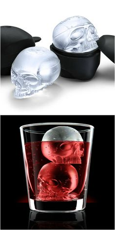 Skull ice cubes - perfect for Halloween