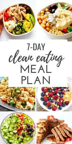 Clean Eating Challenge & Meal Plan (The First One Clean Eating Meal Plan, feat. Start the clean eating challenge, enjoy these healthy recipes to have more energy, lose weight and feel better overall! Good Healthy Recipes, Healthy Drinks, Healthy Snacks, Healthy Dinner Meals, Vegan Recipes Healthy Clean Eating, Healthy Vegetarian Meal Plan, Healthy Weekly Meal Plan, Healthy Meals For One, Vegan Meal Plans