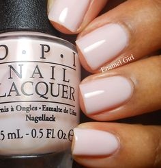 {Bridal Nails} 'Don't Burst My Bubble' OPI.. My new favorite shade of nude with a hint of pink