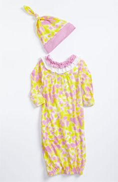 Baby Nay Gown & Hat (Infant)   Nordstrom