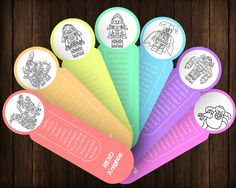 INSTANT PRINTABLE BOOKMARKS – OUTLINE VERSION  Welcome to Printables Baby! This list will give you a printable set of 7 bookmarks with:  - Lovely characters of NEXO KNIGHTS.  - 7 colors to print.  - Outline drawings of character to put color if...