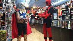 Deadpool cosplayers are always amazing and hilarious! And damn if I don't love this so much.