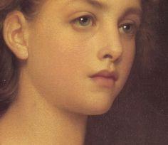 Biondina (detail) - William Adolphe Bouguereau