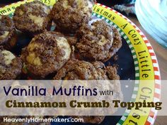 Vanilla Muffins with Cinnamon Crumb Topping