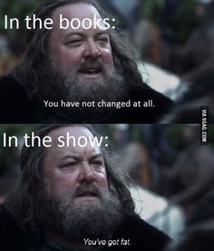 [GoT Season 1 Ep1] The first words spoken by Robert were quite different in the show compared to the books
