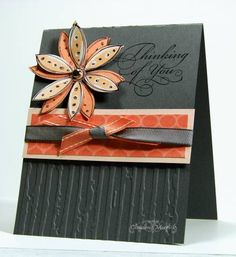 Basic Gray Meets Guava using Stampin Up Doodle This
