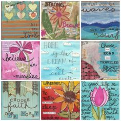 Collage of artwork from www.theartsygirlstudio.com