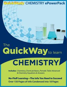 QuickStudy's Chemistry guides are the ideal study tool for any student. Now you can have all the essential Chemistry guides in one specially priced bundle. The chemistry PowerPack includes all of the guides a student needs to succeed in Chemistry. This bundle includes our best-selling Chemistry Guid