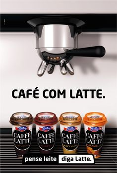 In Portugal coffee with milk is Café com leite. We've played with the words changing leite for latte, (milk in Italian and the name of the product). Similar words that permits the public to read coffee with latte and at the same time understand that we are meaning coffee with milk. This works disruptively funny in Portugal.  https://www.facebook.com/IDOMWorldwide