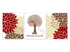 Family Tree Art Custom Wedding Gift