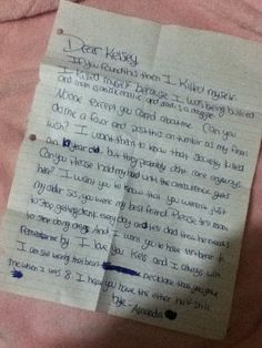 This breaks my heart.. A 10 year old committed suicide leaving this note to her sister.. The hold my hand part killed me inside..