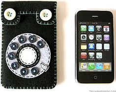 Very cool iphone felt case. Cute ideas for homemade xmas gifts