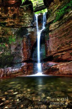 ✮ Kel Burn Waterfall on the grounds of Kelburn Castle near Largs in Ayrshire, Scotland