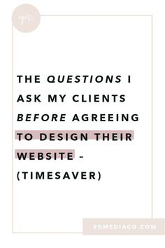 The questions I ask my clients before agreeing to design their website – TIMES. - The questions I ask my clients before agreeing to design their website – TIMES… – Lena Oberdo - Web Design Websites, Online Web Design, Web Design Quotes, Website Design Services, Web Design Tips, Web Design Trends, Web Design Company, Web Design Inspiration, Design Process
