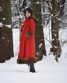 A winter vintage wonderland. #vintage #red #holiday --@Brass Giraffe Vintage An image from our lookbook at www.shopbrassgiraffe.com